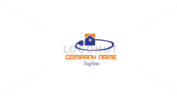 electrical-plug-house-logo-100468