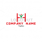h-letter-happy-person-logo-100259